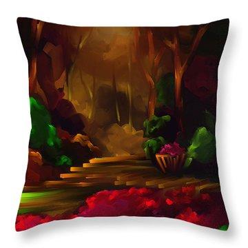 A Place To Go - Scratch Art Series - #72 Throw Pillow