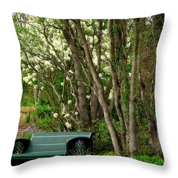 Throw Pillow featuring the photograph A Place To Sit by Rodney Lee Williams