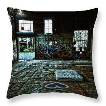 Throw Pillow featuring the photograph A Place With Heart by Debra Fedchin
