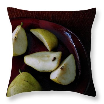 A Plate Of Pears Throw Pillow