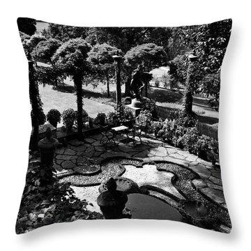 A Pond In An Ornamental Garden Throw Pillow