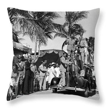 A Portable Jazz Band In Miami Throw Pillow
