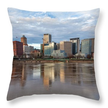 A Portland Morning Throw Pillow by Patricia Davidson
