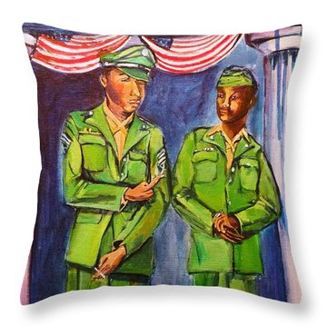 Daddy Soldier Throw Pillow