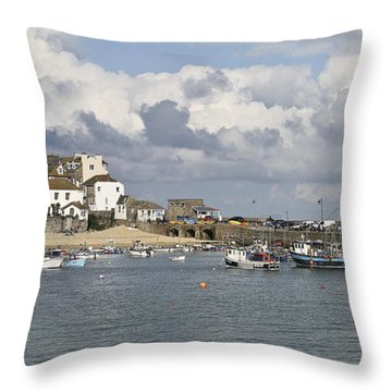 A Postcard From St Ives Throw Pillow by Terri Waters