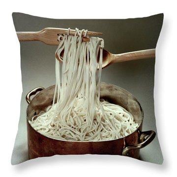 A Pot Of Spaghetti Throw Pillow