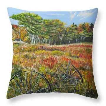 Throw Pillow featuring the painting A Prairie Treasure by Marilyn  McNish