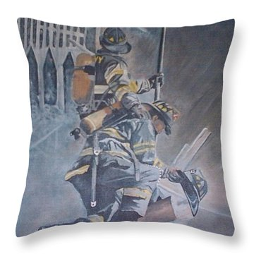A Prayer For My Brothers Throw Pillow by Catherine Swerediuk