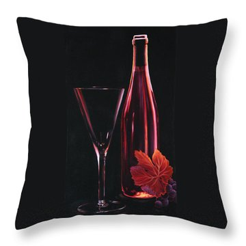 Throw Pillow featuring the painting A Prelude To Romance by Sandi Whetzel