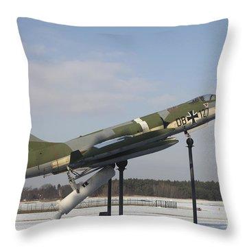 A Preserved F-104g Starfighter Throw Pillow by Timm Ziegenthaler