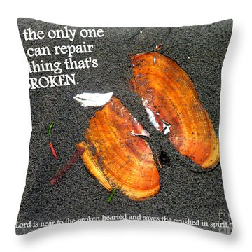 A Psalm For The Brokenhearted Throw Pillow by Kathy  White