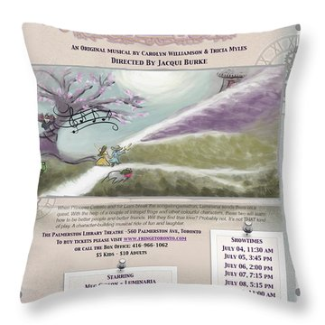 'a Quest Of Character' Poster Throw Pillow by Naomi McQuade