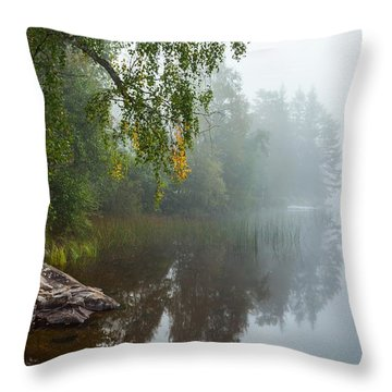 Throw Pillow featuring the photograph A Quiet Autumn Morning by Rose-Maries Pictures