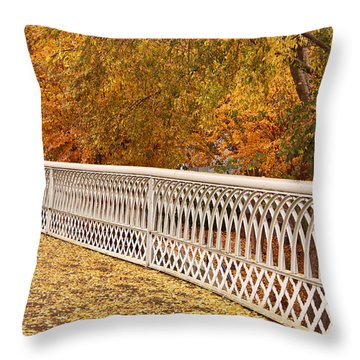 A Quiet Day On The Riverwalk Throw Pillow