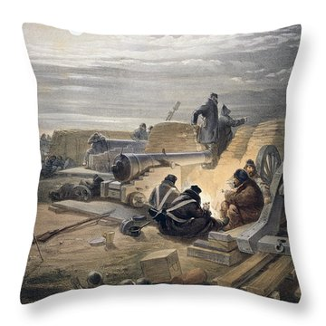 A Quiet Night In The Batteries, Plate Throw Pillow