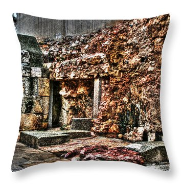 Throw Pillow featuring the photograph A Quiet Place To Pray by Doc Braham