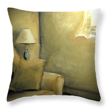 A Quiet Room Throw Pillow
