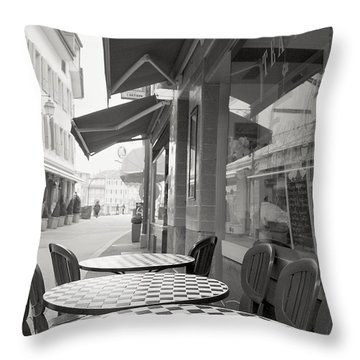 Throw Pillow featuring the photograph A Quiet Sunday by Colleen Williams