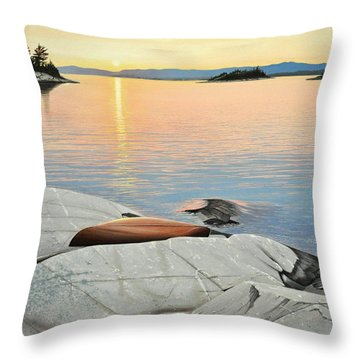 A Quiet Time Throw Pillow