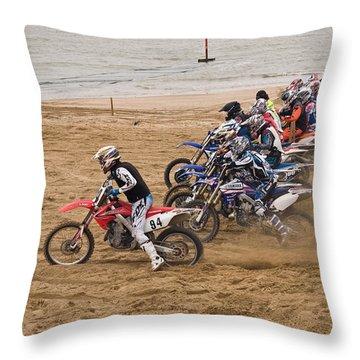 A Racing Start Throw Pillow