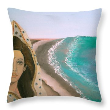 A Rani's Paradise Throw Pillow
