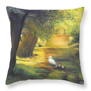 A Ray Of Sunshine  Throw Pillow by Sorin Apostolescu