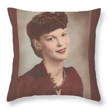 A Real Lady Throw Pillow by Donna Wilson