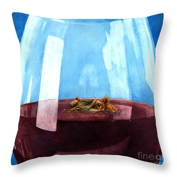 A Really Big Red... Throw Pillow