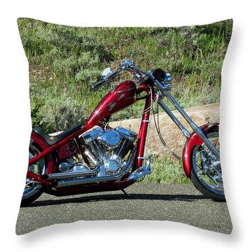 A Red Beauty Throw Pillow by Ausra Huntington nee Paulauskaite