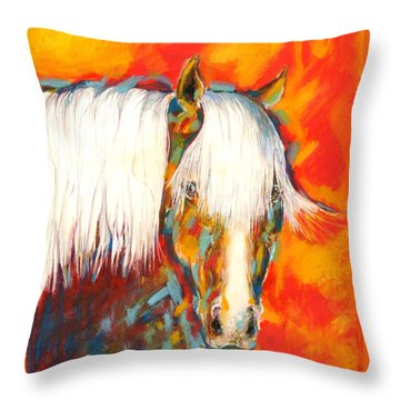 A Red Hot Head Throw Pillow