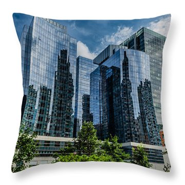 A Reflection Of Boston Throw Pillow