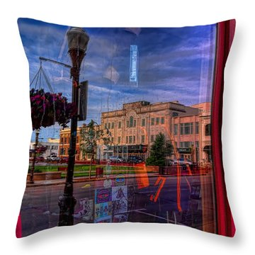 A Reflection Of Wausau's Grand Theater Throw Pillow