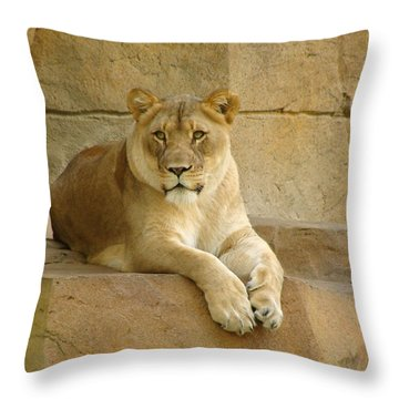 A Regal Presence Throw Pillow by Rita Mueller