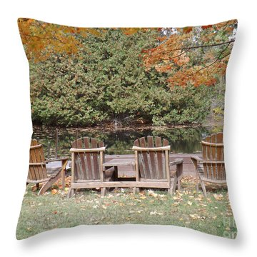 Throw Pillow featuring the photograph Relax For A Moment  by Brenda Brown