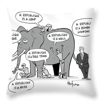 A Republican Is A Bombastic Longshot Throw Pillow