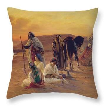 A Rest In The Desert Throw Pillow by Otto Pilny