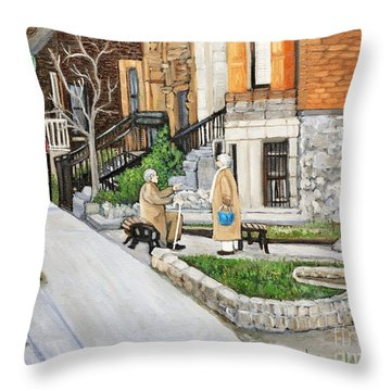 A Rest On Summerhill Avenue Throw Pillow by Reb Frost