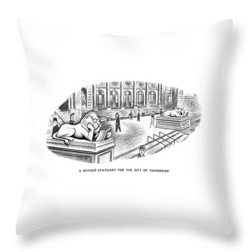 A Revised Statuary For The City Of Tomorrow Throw Pillow