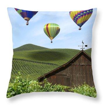 A Ride Through Napa Valley Throw Pillow