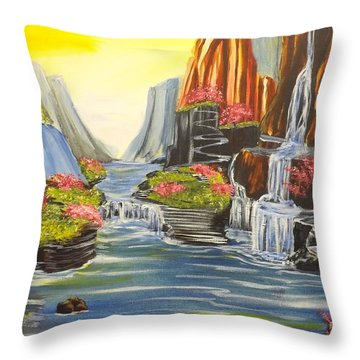 A River Runs Through It Throw Pillow by Darren Robinson