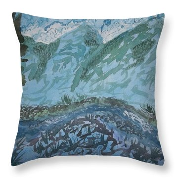 A River Runs Through It Throw Pillow