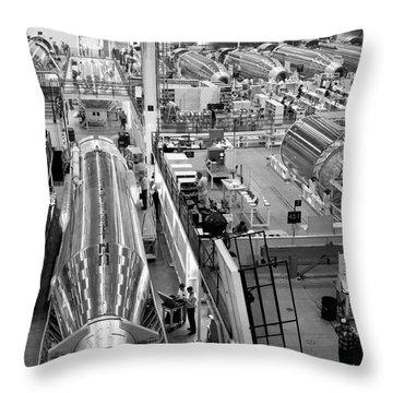 A Rocket Manufacturing Facility. Throw Pillow