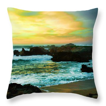 A Rocky Sunset Throw Pillow