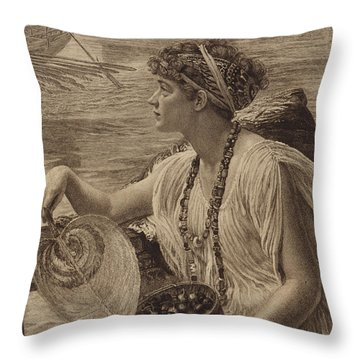 A Roman Boat Race Throw Pillow by English School