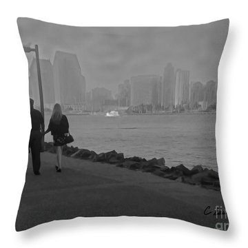 A Romantic Walk 2 Throw Pillow