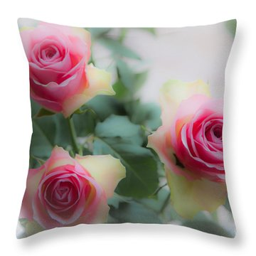A Rose And A Rose And A Rose Throw Pillow