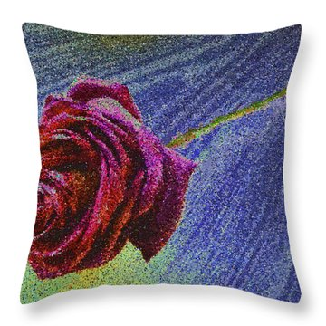 A Rose For You From Kenneth James Throw Pillow