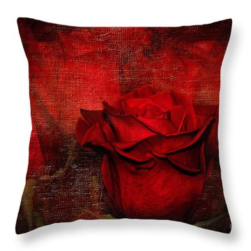 A Rose For You Throw Pillow by Kaye Menner