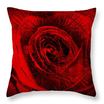 A Rose Throw Pillow by Kylie Sabra