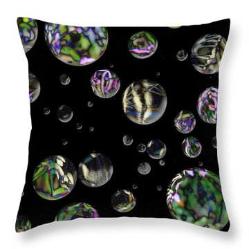 A Round Throw Pillow